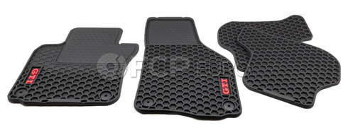 Volkswagen Floor Mat Set Rubber (GTI) - Genuine VW Audi 1K1061550041