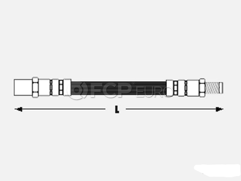 Audi Brake Hose Front - Meyle 443611707CMY