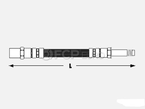 Volkswagen VW Brake Hose Front - Meyle 1H0611701MY