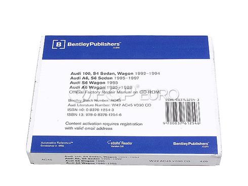 Audi Repair Manual On CD-ROM (100 A6 S4) - Bentley AC45