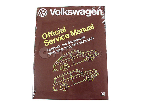 VW Repair Manual (Fastback Squareback) - Robert Bentley VW8000311