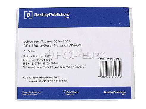 Volkswagen VW Repair Manual On CD-ROM (Touareg) - Bentley V7L5