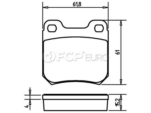 Saab Brake Pads Rear (900 9-3) - Pagid D905P