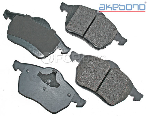 Volkswagen Audi Brake Pads Set Front (Passat 100 Quattro 100) - Akebono EUR555A