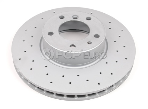 BMW Brake Disc Front Cross Drilled - Zimmerman Sport 34116757746ZD