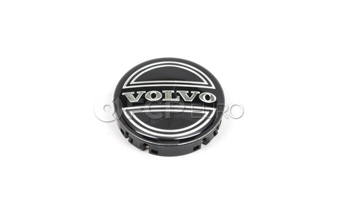 Volvo Wheel Center Cap (Black Cap Silver Trim) Genuine Volvo 30666913