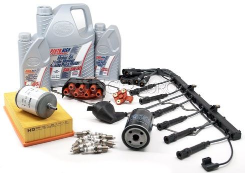 BMW Complete Tune Up and Filters Kit with Oil (E34 525i) - E34TUNEKIT1-Full