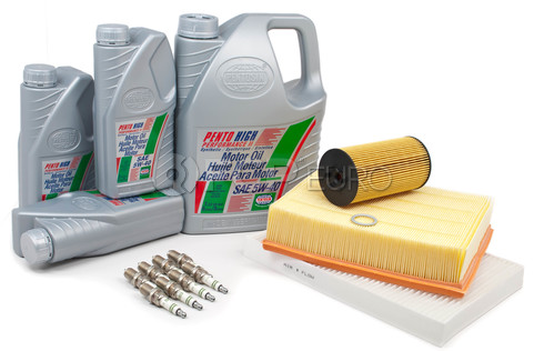 Audi Service Kit with Spark Plugs and Oil - ALLROAD4.8TUNEKIT2-Oil