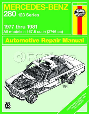 Mercedes Benz Haynes Repair Manual (280 W123 Series) - Haynes HAY-63025
