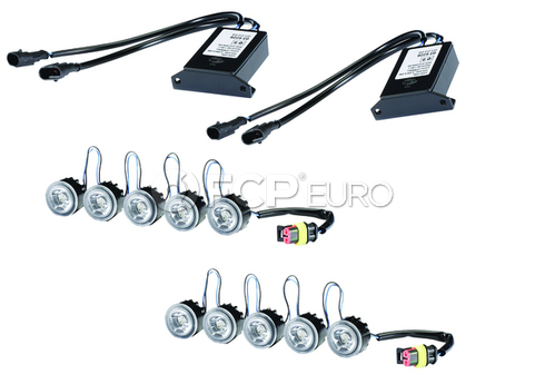 Hella LEDay Flex Daytime Running Lights Kit - 5 LED Light Kit - 010458811