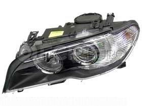 BMW Headlight Assembly w/o Adaptive Left (325Ci 330Ci) - Hella 63127165907