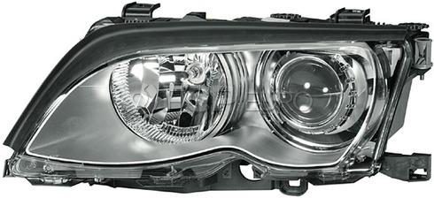 BMW Headlight Assembly Xenon Left - Hella 63127165791
