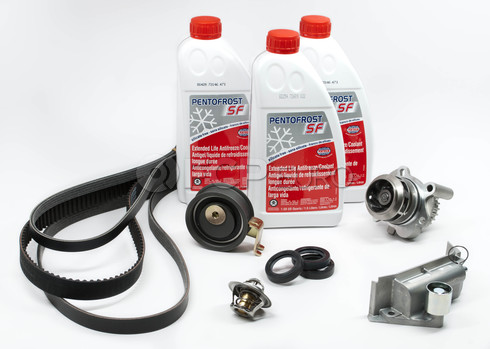 Audi Timing Belt Kit with Coolant (A4 A4 Quattro 1.8 Turbo AWM) - AWMTBKIT1G12