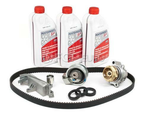 Audi VW Volkswagen Timing Belt Kit with Coolant - OEM Parts TBKIT908OEMG12