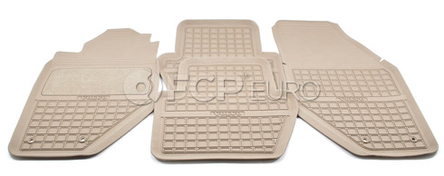 Volvo Rubber Floor Mat Set Granite/ Beige - Genuine Volvo 9422004