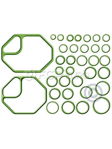 BMW A/C System O-Ring and Gasket Kit - Omega 91-MT2641