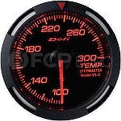 Temperature Gauge (Water or Oil) Red 52mm - Defi DF06702