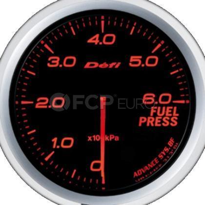 Fuel Pressure Gauge Red 60mm - Defi DF10302