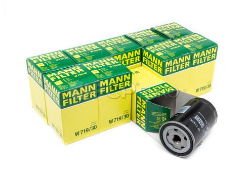 Audi VW Volkswagen Case Oil Filter (10 Filters) - Mann W719/30-10