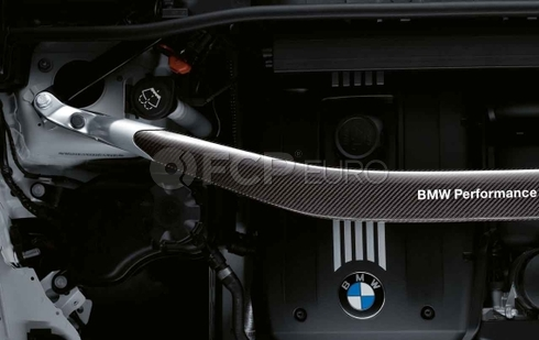 BMW Performance Carbon Fiber Strut Brace (E82 E90 E92) - Genuine BMW 51710429377