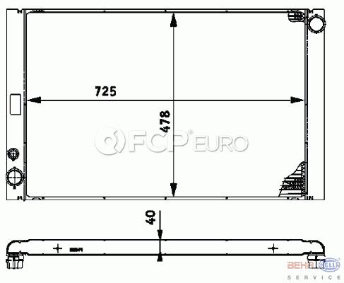Audi Radiator (A8 Quattro) - Behr 4E0121251