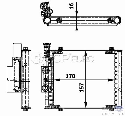 Audi Transmission Oil Cooler (A6 Quattro Allroad Quattro S4) - Behr 4B0317021C