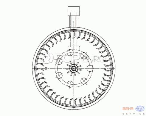 Mercedes Blower Motor - Behr 2308200214