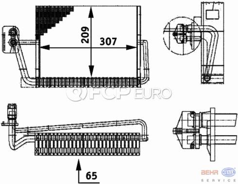 Mercedes A/C Evaporator - Behr 2208301058