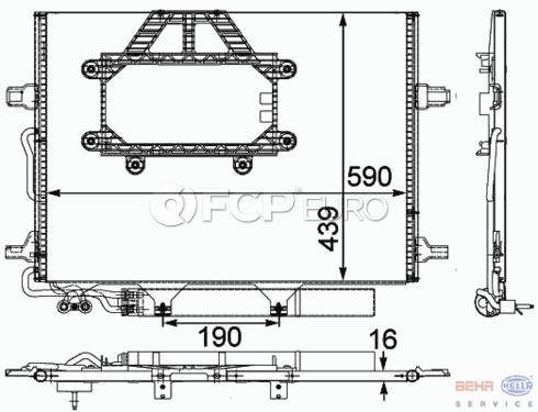 Mercedes A/C Condenser (CLS550 E320 E550) - Behr 2115000554