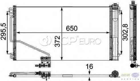 Mercedes A/C Condenser (SLK280 SLK350) - Behr 1715000154