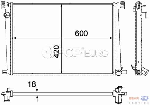 Mini Radiator (Cooper Base Clubman) - Behr 17117535099