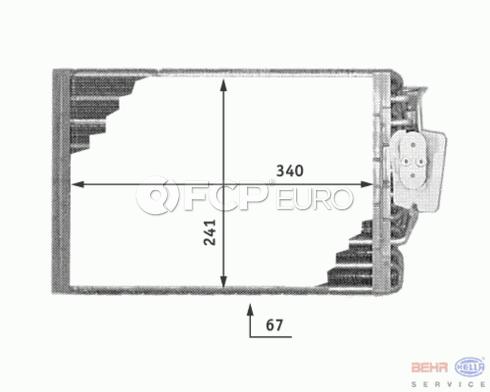 Mercedes A/C Evaporator (SLK230 SLK320) - Behr 1708300658