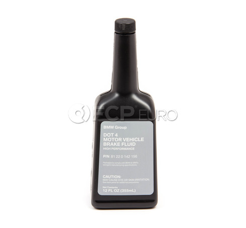 BMW DOT 4 Brake Fluid (12 fl oz) - Genuine BMW 81220142156