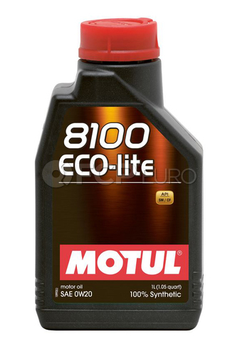 Motul Synthetic Engine Oil 8100 0W20 ECO-LITE (1 Liter) - 104981