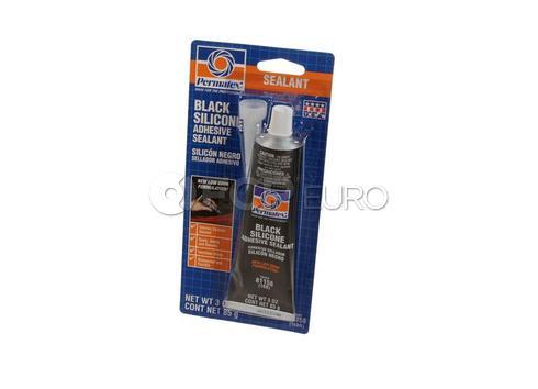 Permatex Black Silicone Adhesive Sealant (3 oz) - Permatex 81158