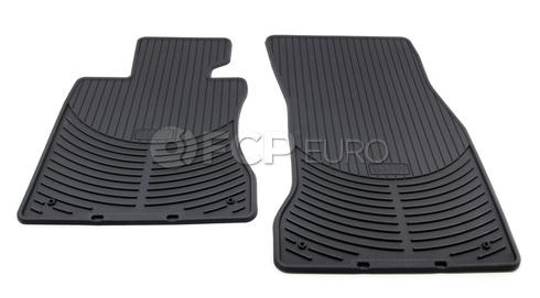 BMW Rubber Floor Mats Set of 2 Black Front (E60) - Genuine BMW 82550302997