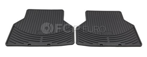 BMW Rubber Floor Mats Set of 2 Black Rear (E60) - Genuine BMW 82550305179