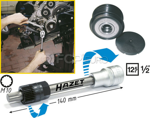 HAZET Alternator Pulley Tool Kit - HAZET 4641-2