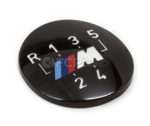 BMW M Shift Knob Emblem - Genuine BMW 25112231554