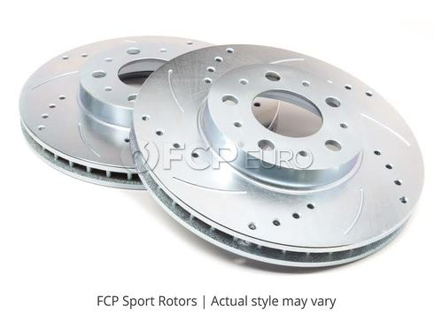 Nissan Drilled and Slotted Brake Disc Set Front (260Z 280Z) - FCP Sport RR42004SD