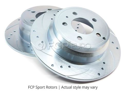 Nissan Drilled and Slotted Brake Disc Set Rear - FCP Sport RR42054SD