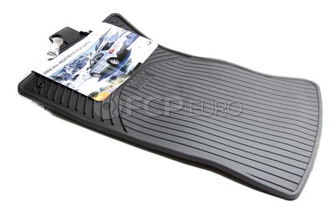 BMW Rubber Floor Mats Black Front (E46) - Genuine 82550136372
