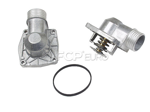 BMW Thermostat Assembly 90 deg. (750iL 850Ci) - Borg Warner / Wahler 11531704704