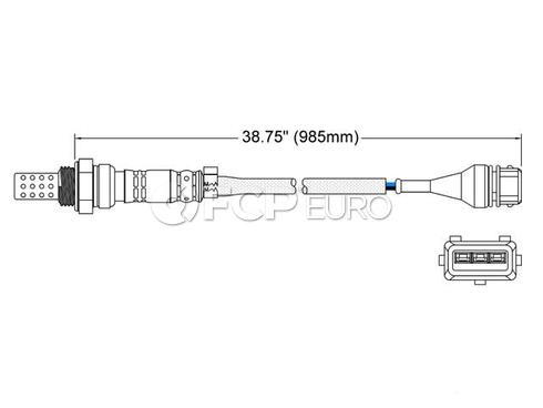 VW Oxygen Sensor (Golf Jetta ) - Walker 250-23018
