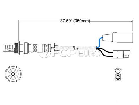 Porsche Oxygen Sensor (924 944) - Walker 250-23025