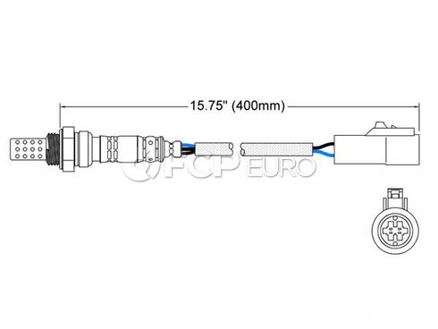 Jaguar Oxygen Sensor (S-Type) - Walker 250-24301