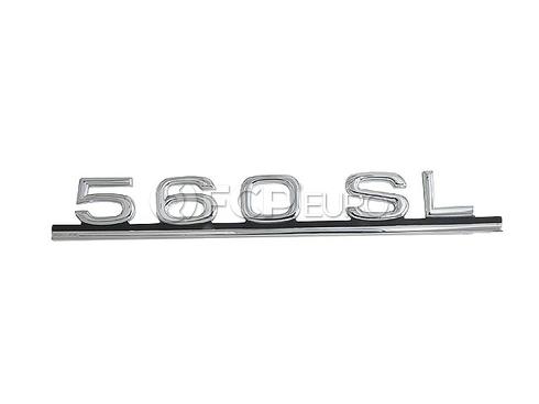 Mercedes Trunk Lid Emblem (560SL) - Genuine Mercedes 1078171415