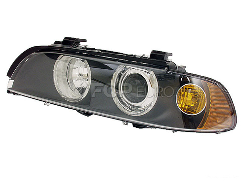 BMW Halogen Headlight Assembly Left (E39) - Hella 63126900199