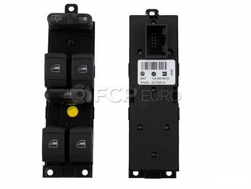 VW Door Window Switch Front Left - OE Supplier 1J4959857D
