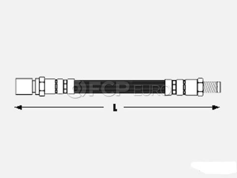 VW Brake Hose Front (Beetle Transporter) - Meyle 211611701